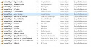 Picture 8: Album folder with single files for each track.