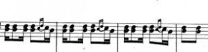 Part C (trio), only the first 4 bars, taken from [1]