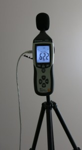 Picture 12: SPL meter mounted to a tripod for continuous measurement