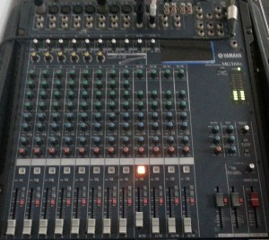 Picture 6: Small house mixer with 12 channels. Only one channel is active.